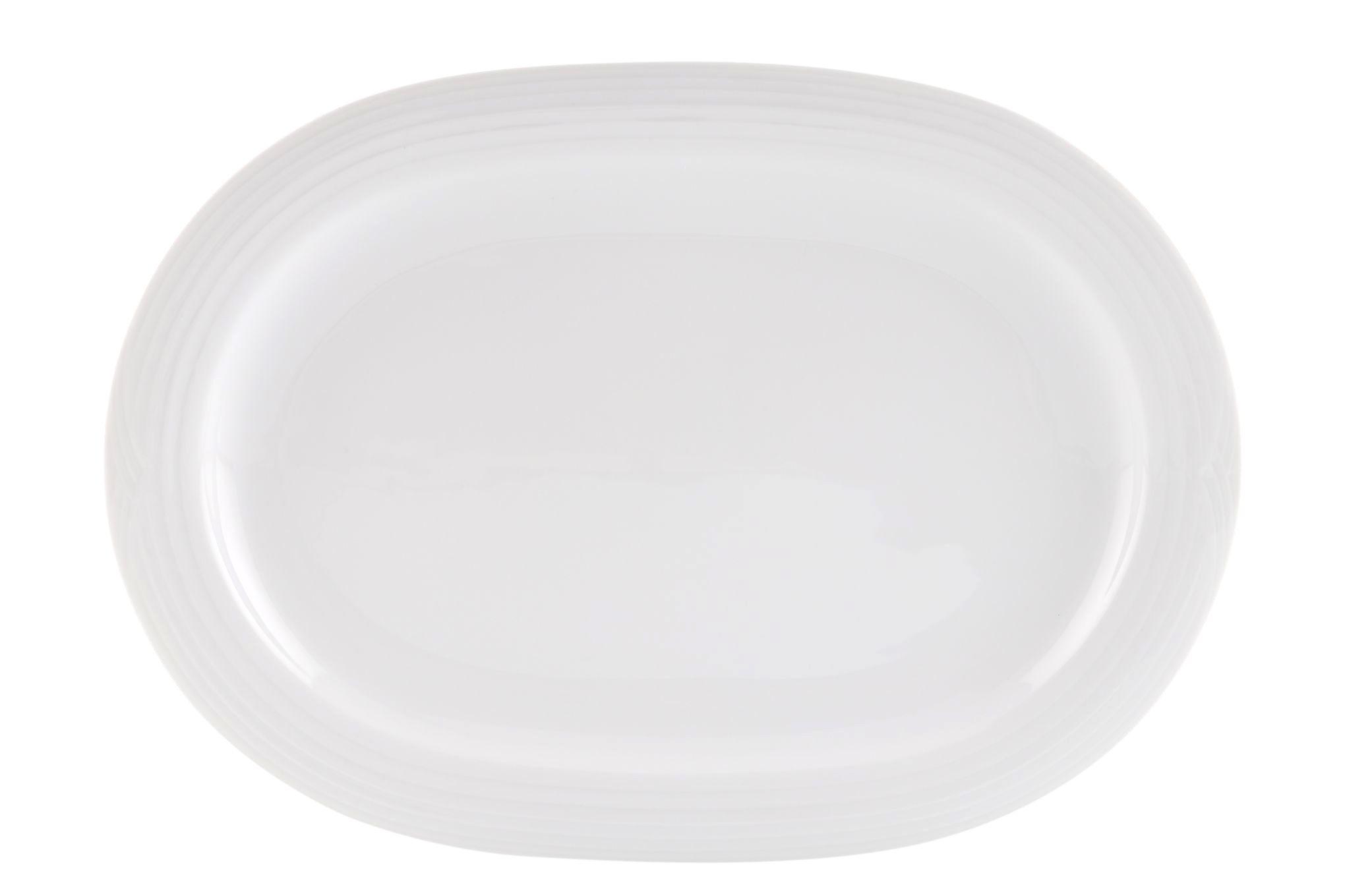 Noritake Arctic White Oval Plate / Platter 35.6cm thumb 1