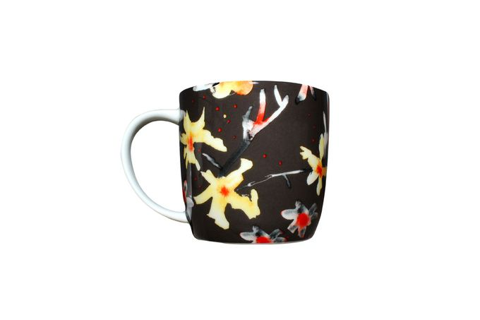 Meg Hawkins The Home Collection Mug Mixed Petals Grey Design
