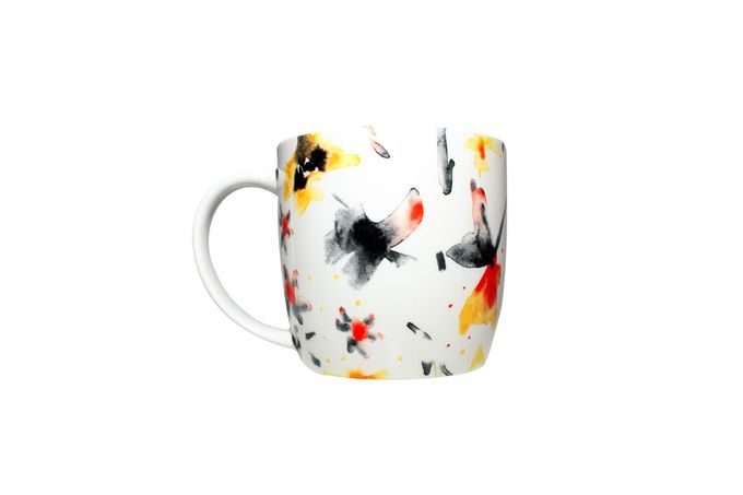 Meg Hawkins The Home Collection Mug Mixed Petals White Design