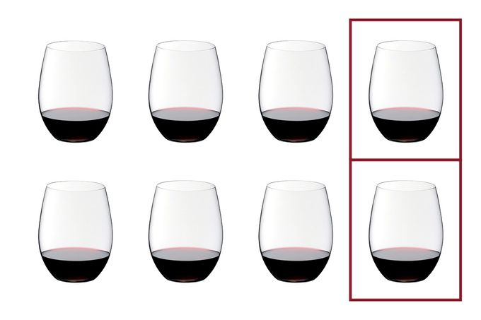 Riedel Riedel O Set of 8 Red Wine Glasses Value Pack - Pay 6 Get 8 600ml