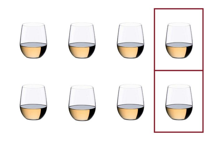 Riedel Riedel O Set of 8 White Wine Glasses Value Pack - Pay 6 Get 8 320ml