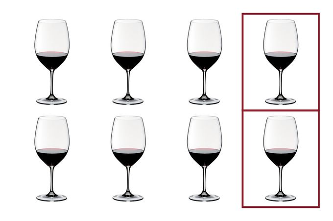 Riedel Vinum Set of 8 Red Wine Glasses Value Pack - Pay 6 Get 8 610ml