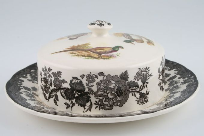 Palissy Game Series - Birds Butter Dish + Lid Round
