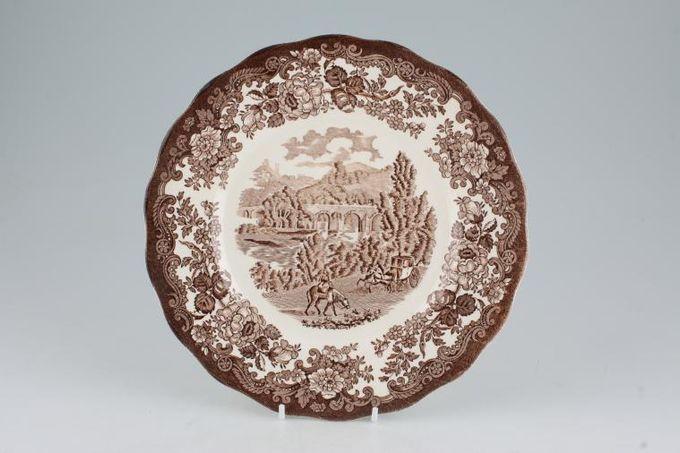 "Palissy Avon Scenes - Brown Breakfast / Salad / Luncheon Plate 8 3/4"""