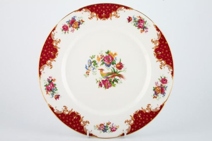 "Paragon Rockingham - Red Dinner Plate 10 3/4"""