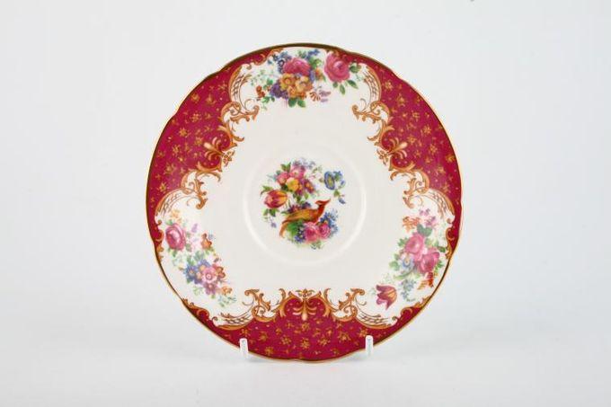 """Paragon Rockingham - Red Tea Saucer Flat 5 1/2"""""""