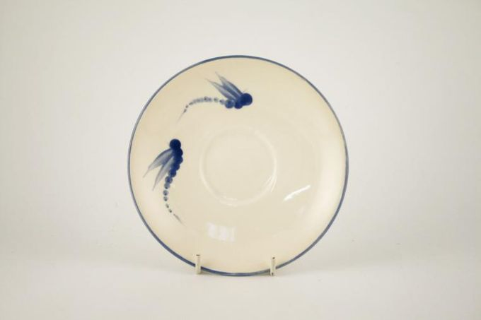 Poole Dragonfly - Blue Tea Saucer 5 7/8""