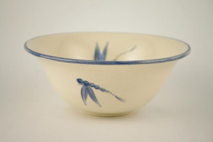 Poole Dragonfly - Blue Soup / Cereal Bowl Dragonfly inside 6 5/8""