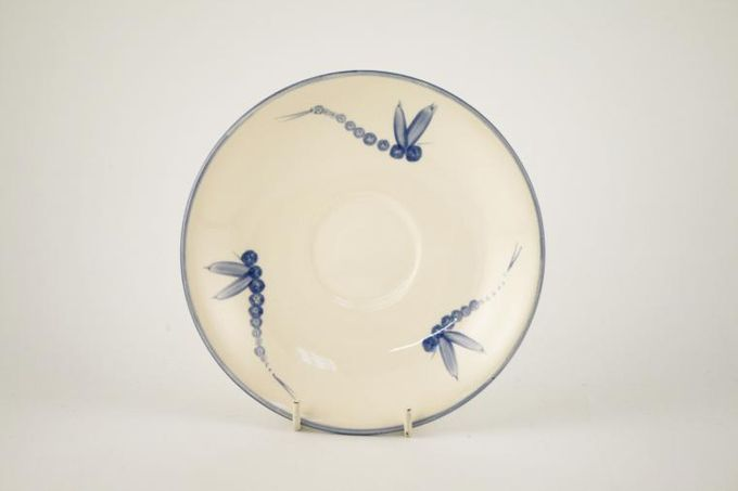 Poole Dragonfly - Blue Breakfast Saucer 6 1/2""