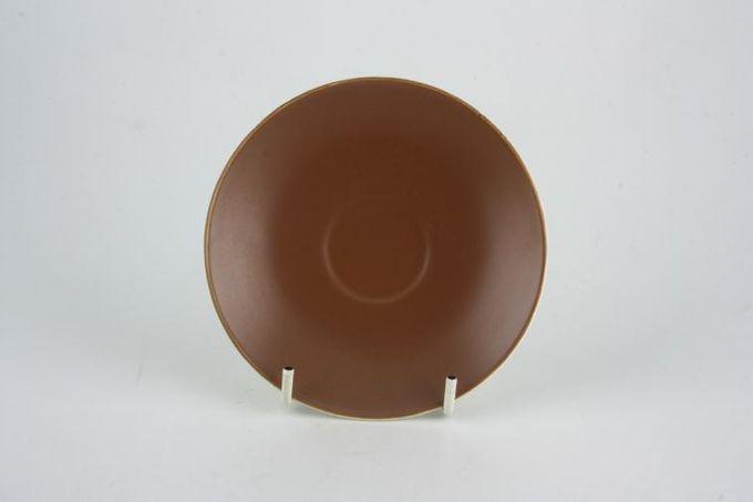 "Poole Mushroom and Sepia - C54 Coffee Saucer 4 3/4"""