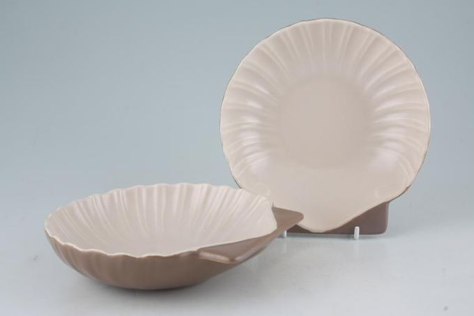 Poole Mushroom and Sepia - C54 Serving Bowl Set 6 1/2""