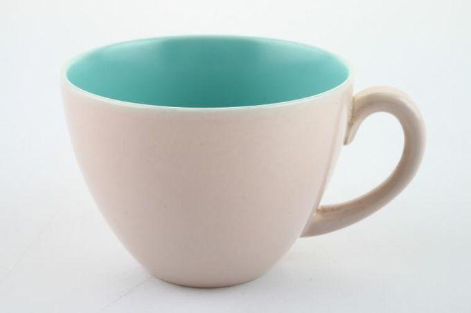 """Poole Mushroom and Ice Green - C57 Coffee Cup 2 3/4 x 2"""""""
