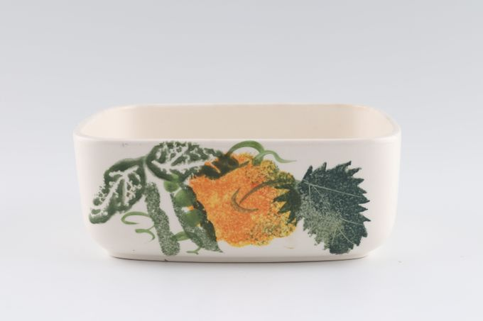 """Poole Pea Flower Butter Dish Base Only 5 5/8 x 4 1/4"""""""