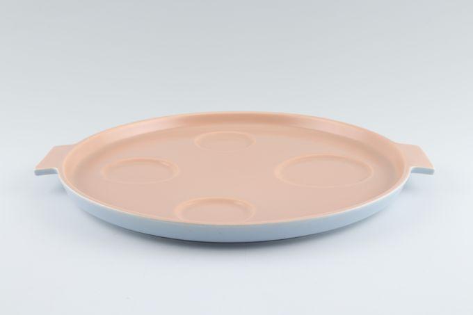"Poole Peach Bloom and Mist Blue - C100 Cruet Stand Round 11"""