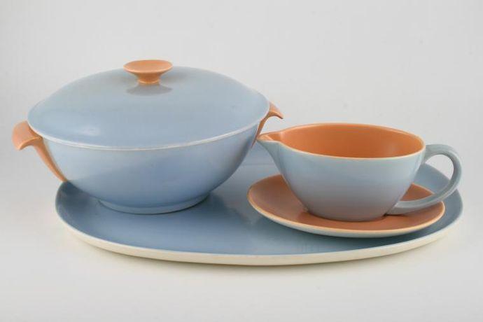 Poole Peach Bloom and Mist Blue - C100