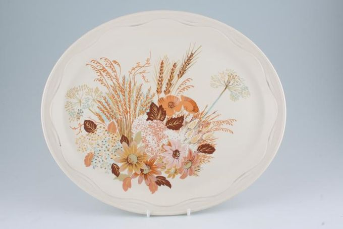 "Poole Summer Glory Oval Plate / Platter 13 1/2"""