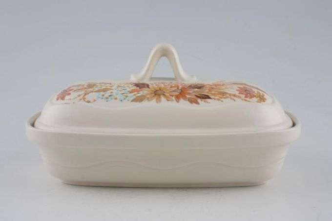 Poole Summer Glory Butter Dish + Lid