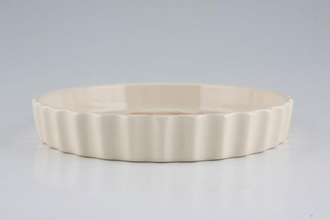 """Poole Summer Glory Flan Dish Fluted 7 3/4"""""""