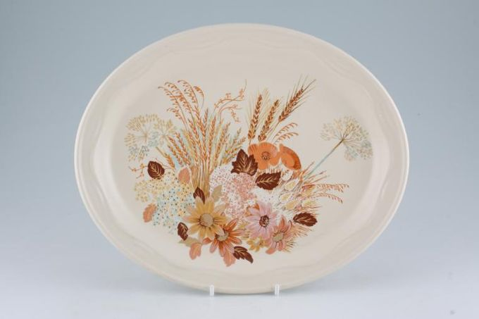"Poole Summer Glory Oval Plate / Platter Steak Plate 11 1/4"""