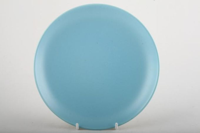 """Poole Twintone Dove Grey and Sky Blue Dinner Plate 10"""""""