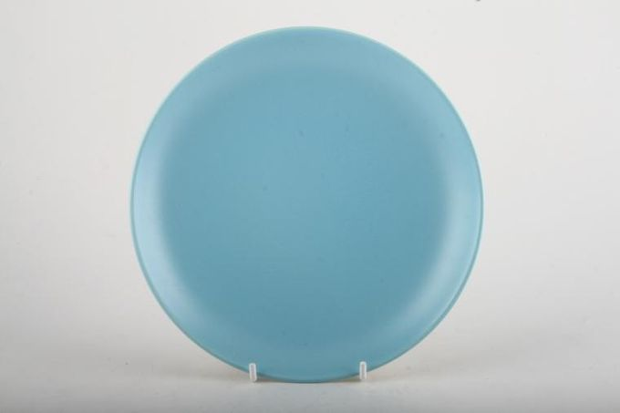 Poole Twintone Dove Grey and Sky Blue Breakfast / Salad / Luncheon Plate 9""