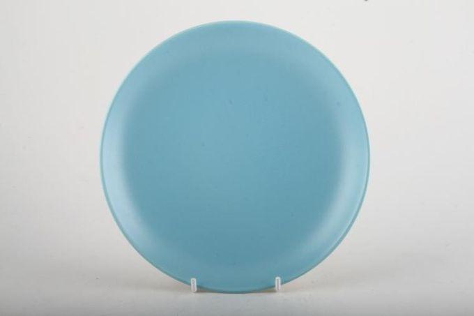 "Poole Twintone Dove Grey and Sky Blue Starter / Salad / Dessert Plate 8 1/8"""