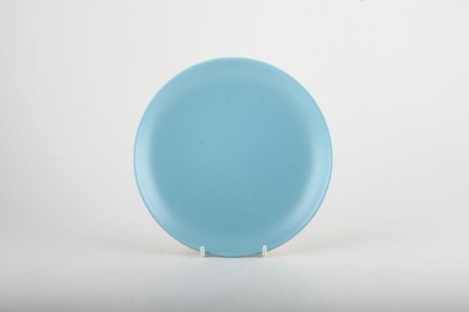 """Poole Twintone Dove Grey and Sky Blue Tea / Side / Bread & Butter Plate 6"""""""