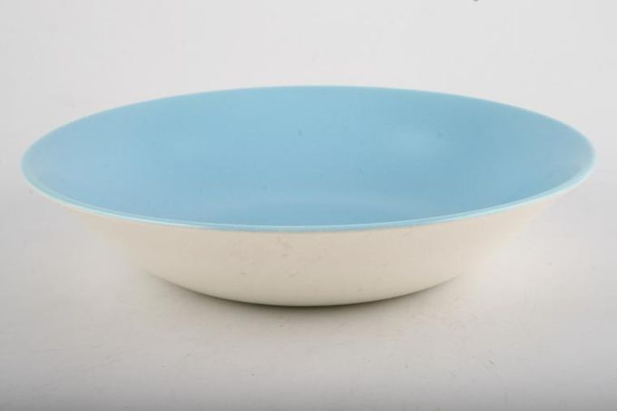"""Poole Twintone Dove Grey and Sky Blue Oatmeal / Cereal / Soup 7 1/2"""""""