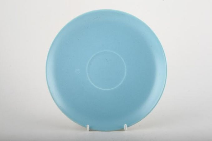 """Poole Twintone Dove Grey and Sky Blue Soup Cup Saucer 7"""""""