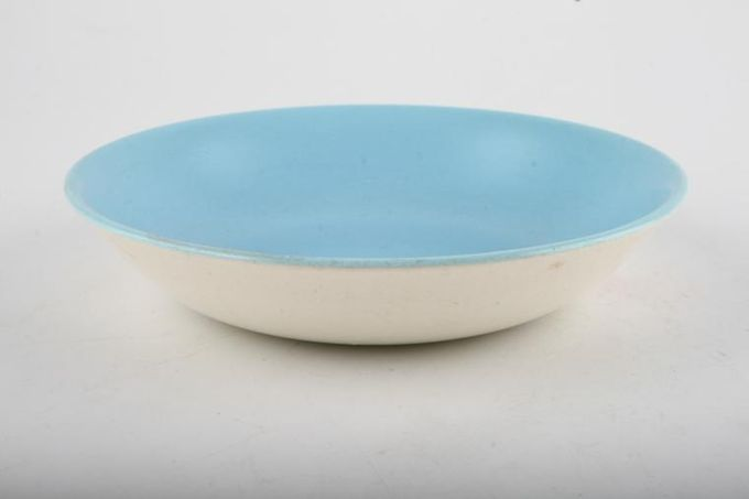 """Poole Twintone Dove Grey and Sky Blue Fruit Saucer 5 1/2"""""""
