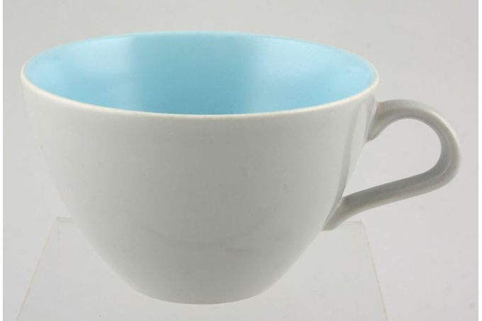 Poole Twintone Dove Grey and Sky Blue Breakfast Cup 3 7/8 x 2 1/2""
