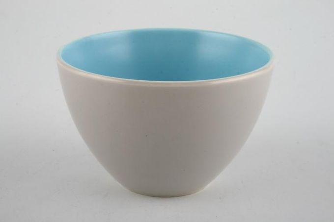 "Poole Twintone Dove Grey and Sky Blue Sugar Bowl - Open (Coffee) 2 3/4 x 2"""