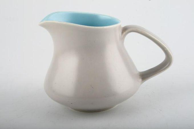 Poole Twintone Dove Grey and Sky Blue Cream Jug 1/4pt
