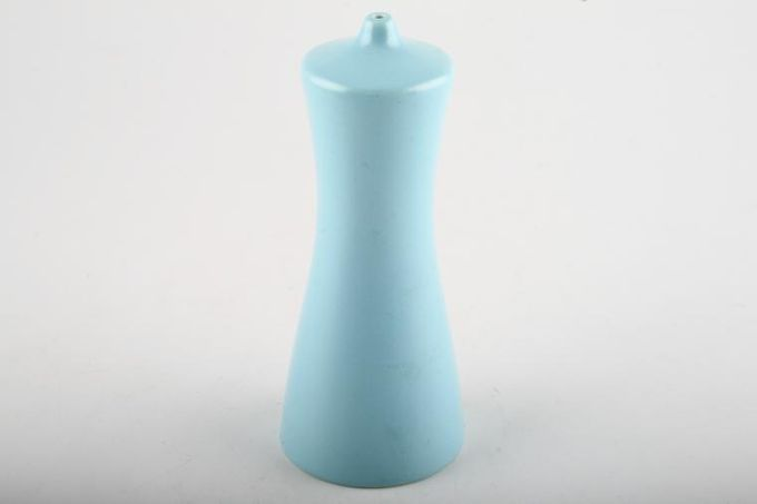 Poole Twintone Dove Grey and Sky Blue Salt Pot Tall 5 1/4""