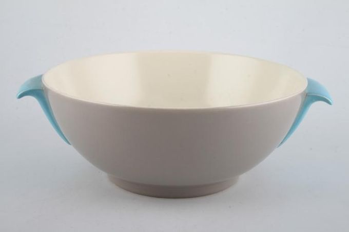 """Poole Twintone Dove Grey and Sky Blue Vegetable Tureen Base Only 9 3/4"""""""