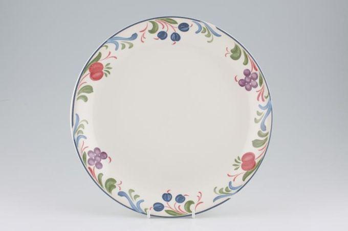 "Poole Cranborne Dinner Plate No Rim 9 7/8"""