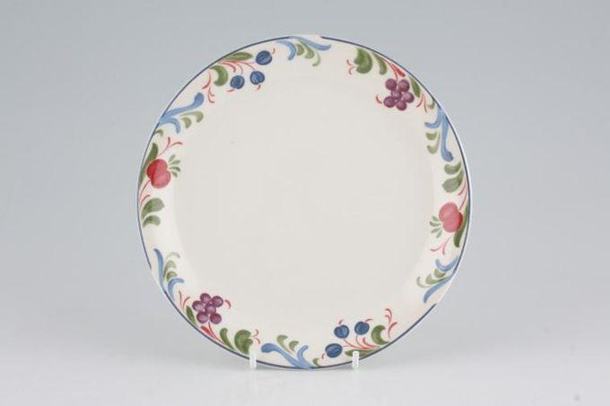 """Poole Cranborne Tea / Side / Bread & Butter Plate No Rim 7 1/8"""""""