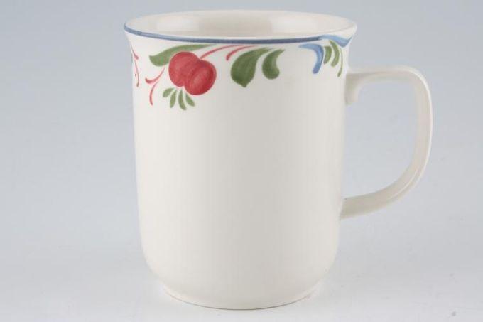 "Poole Cranborne Mug Outer rim pattern only - D shaped handle 3 1/8 x 3 3/4"""