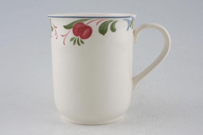 "Poole Cranborne Mug Outer rim pattern only - Round shaped ridged handle 3 1/8 x 3 3/4"""