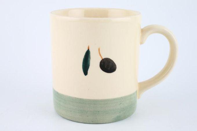 """Poole Fresco - Green Mug 3 1/4 x 3 5/8"""""""