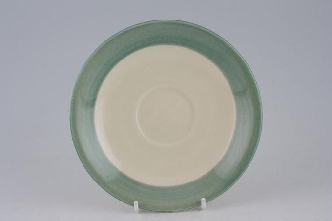 """Poole Fresco - Green Breakfast Saucer 6 3/8"""""""