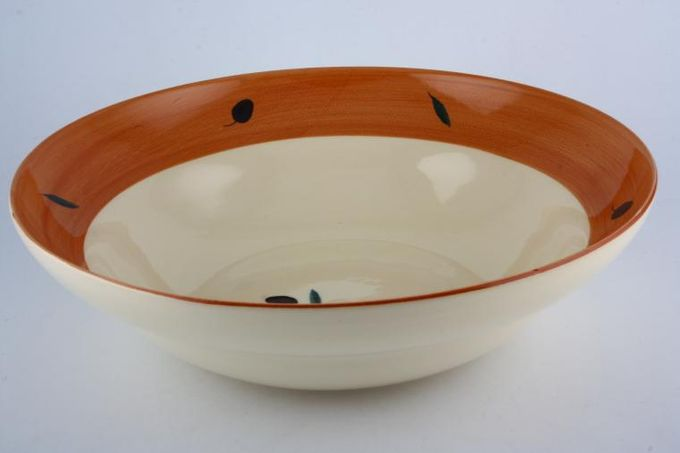 "Poole Fresco - Terracotta Serving Bowl 12 1/2"""