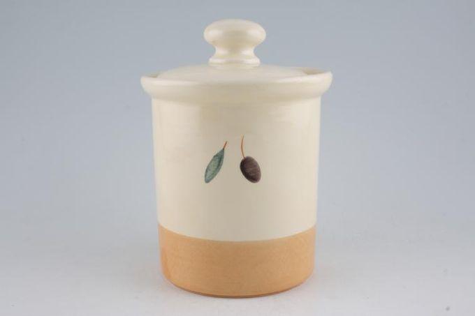 "Poole Fresco - Terracotta Storage Jar + Lid 5 x 5 1/2"""