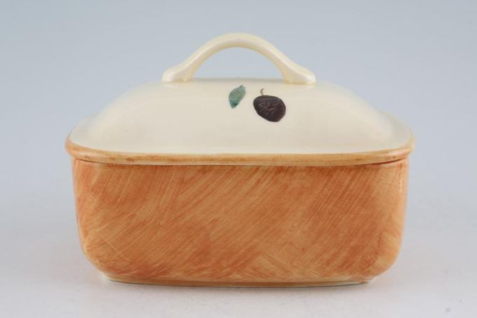 Poole Fresco - Terracotta Butter Dish + Lid Shades vary across all items in this pattern.