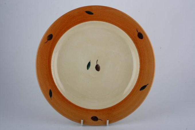 Poole Fresco - Terracotta Dinner Plate Shades vary across all items in this pattern 10 1/2""