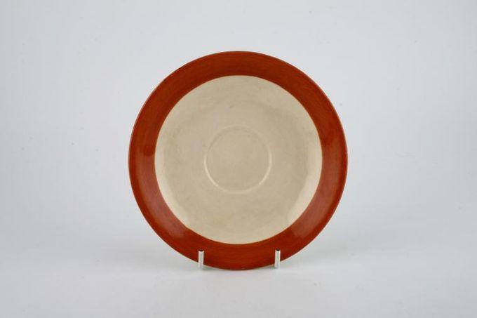 """Poole Fresco - Terracotta Tea Saucer 5 3/4"""""""