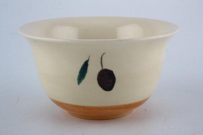 "Poole Fresco - Terracotta Rice Bowl Pattern Outside 4 7/8"""
