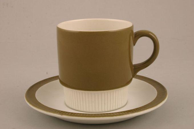 "Poole Choisya - Olive Tea Saucer 5 1/2"""