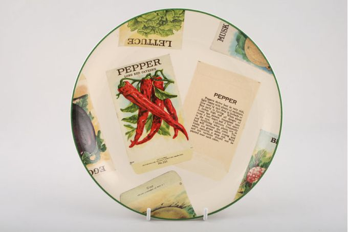 Poole Seed Packets Starter / Salad / Dessert Plate Pepper 8 5/8""