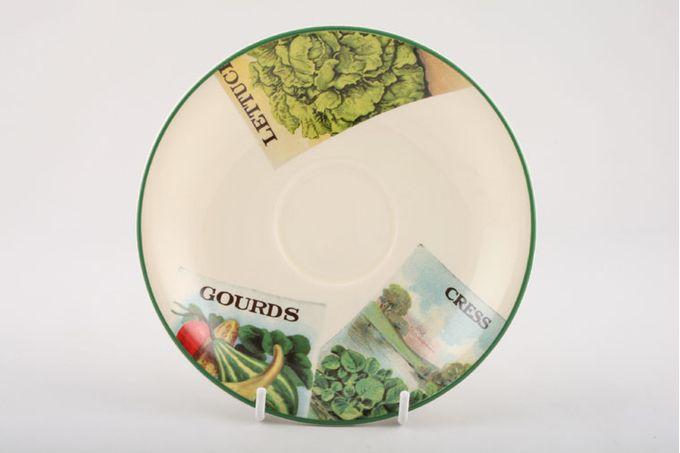 "Poole Seed Packets Tea Saucer 6 1/2"""